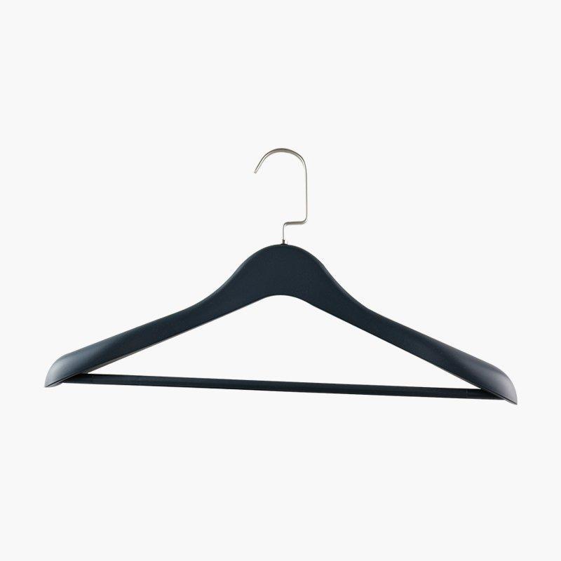 Garment Black Coat Clothes Plastic Hanger for Men's Shirts