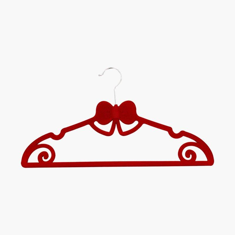 Customized Cute Velvet Flocked Clothes ABS Hangers for Kids Clothes
