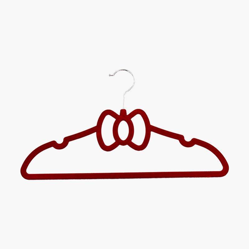 Cute Bowknot Velvet or Flocked ABS Hanger for Children Clothes