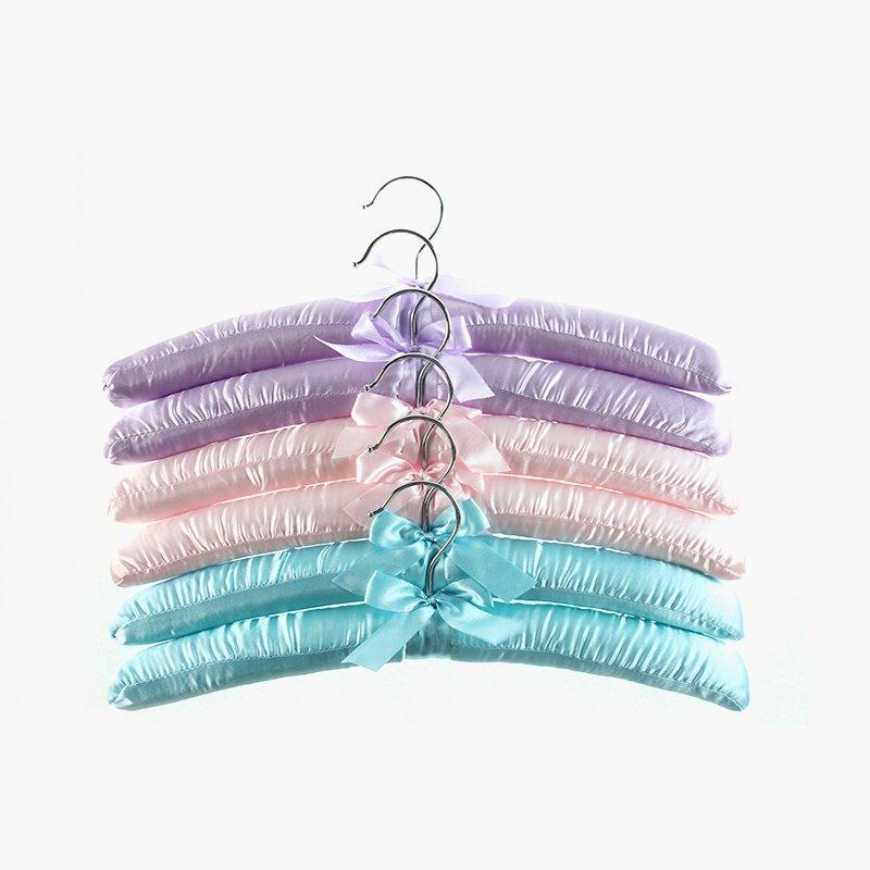 Colourful Spadded Satin or Fabric Hanger for Dress & Skirt