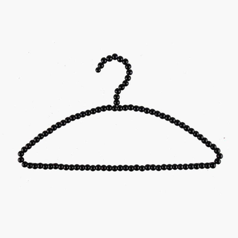 Black Plastic Pearl Hangers for Women Wedding Dress
