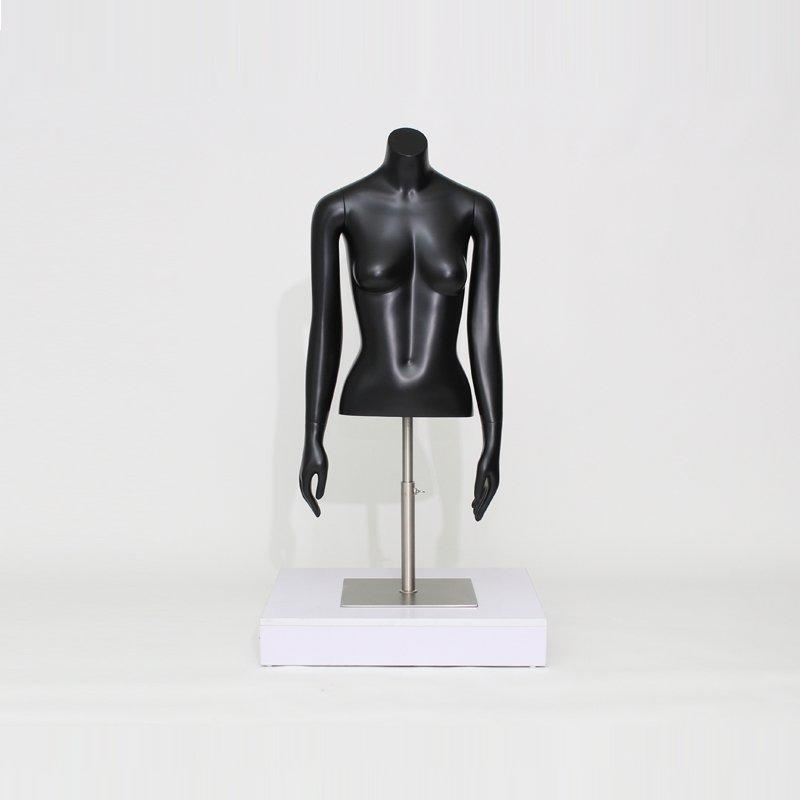 Female Half  Body Retail Display Mannequin for Clothes Store