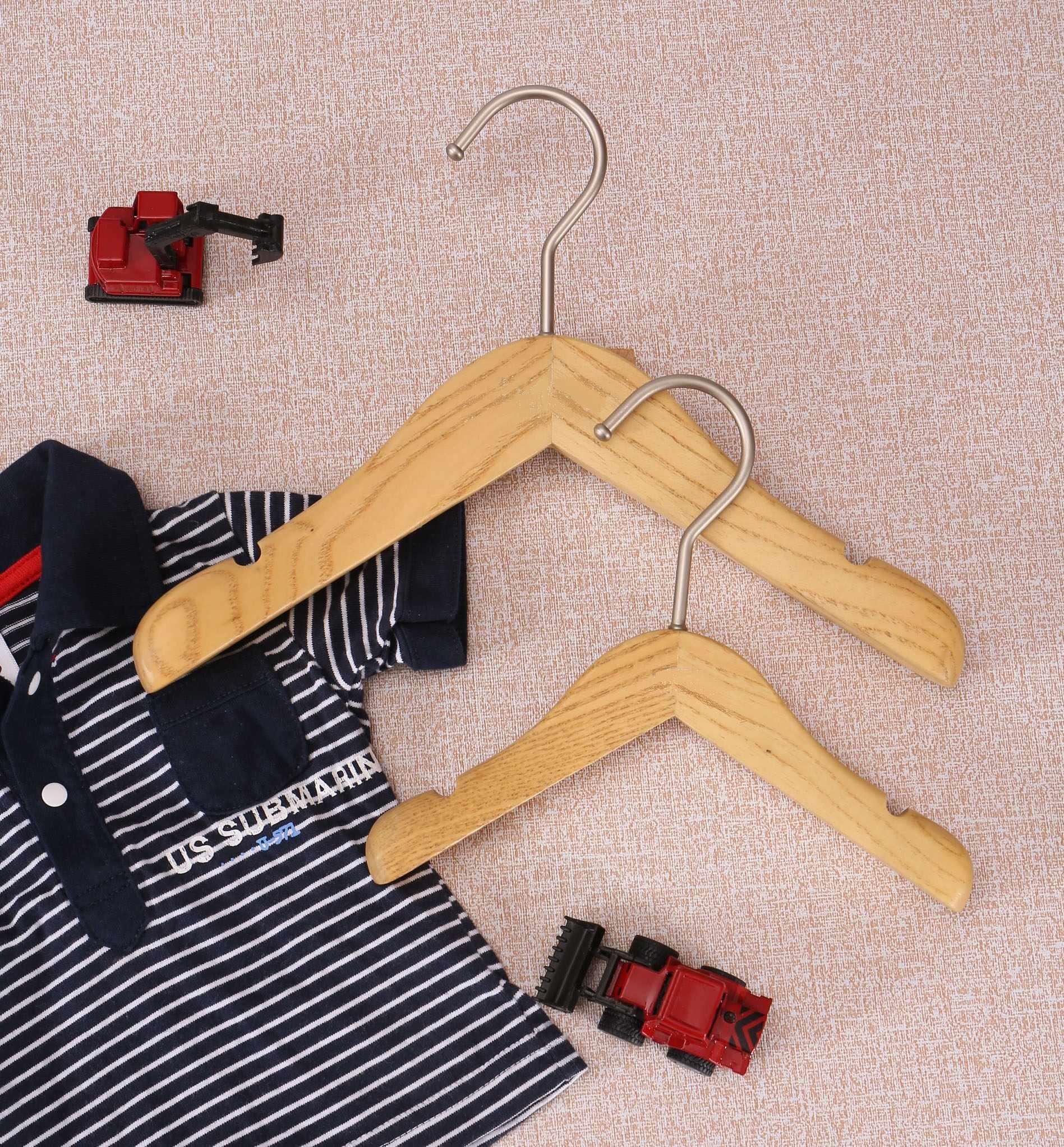 garment kids natural wooden hanger for clothes shop