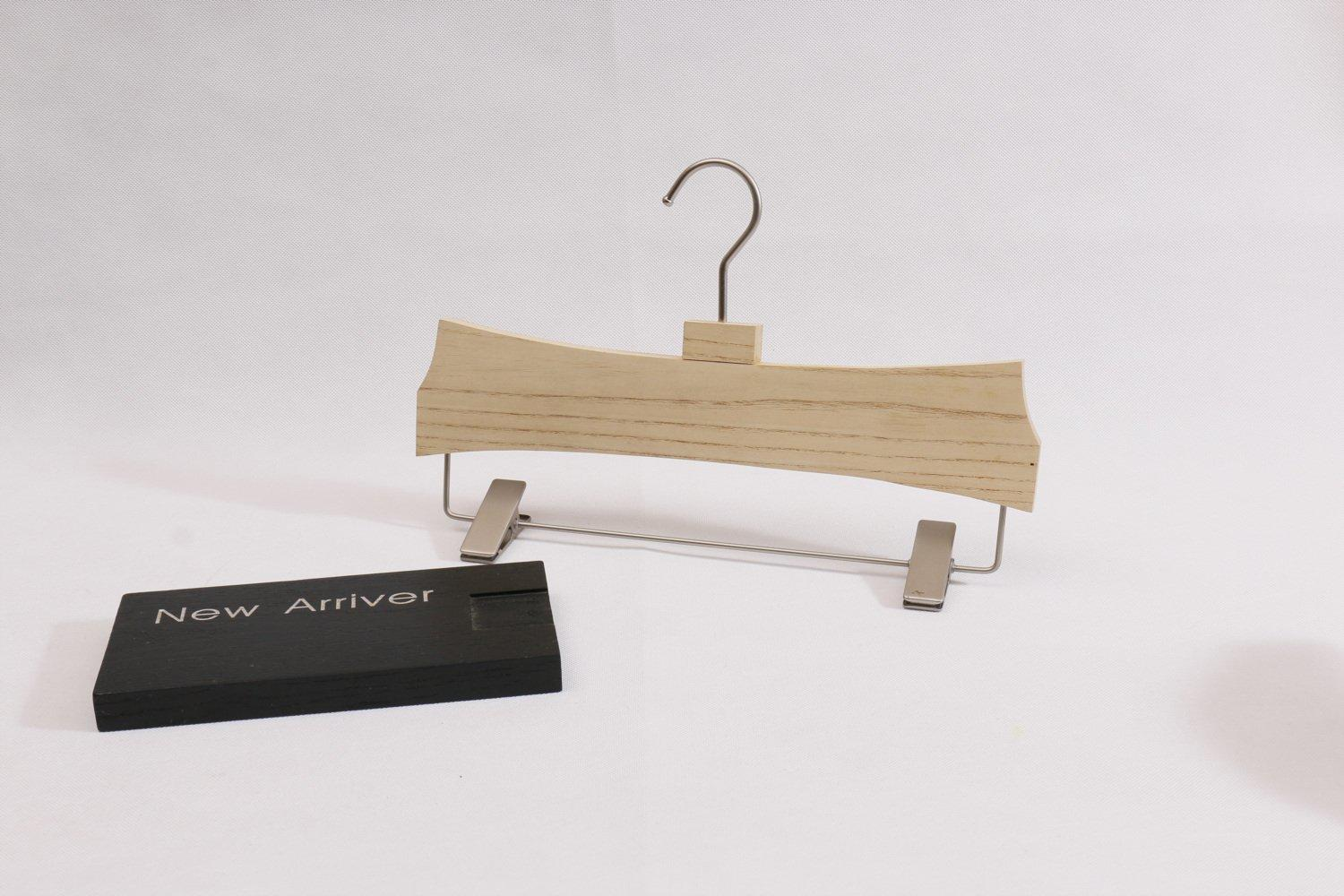 Luxury white Painted Wooden pants Hangers with clips