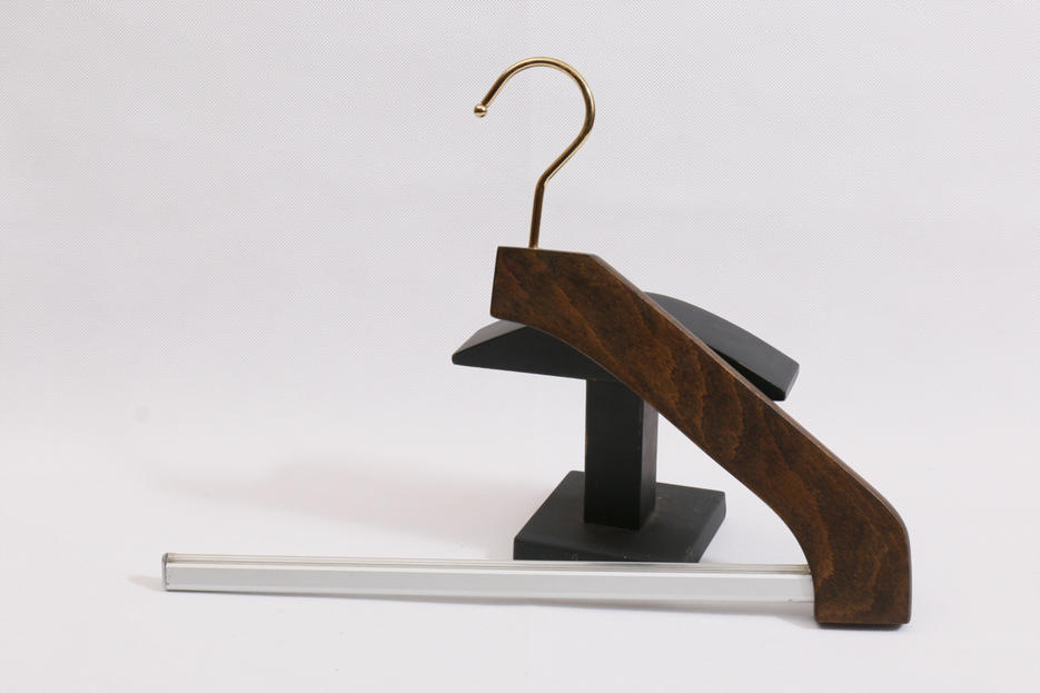 New Style Pant Wooden Hanger with Stainless bar