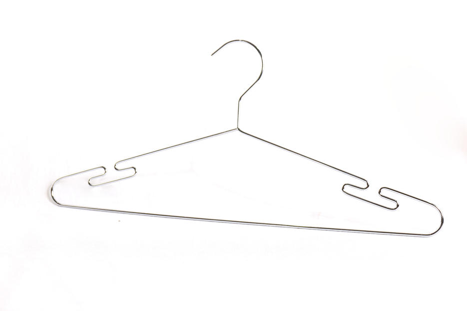 Metal Wire Hanger Metal Cloth clothes Hanger Coat Hangers Polished Chrome Wholesale
