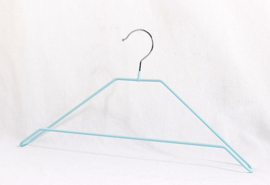 Colorful metal hanger with PVC for Clothes chrome hook