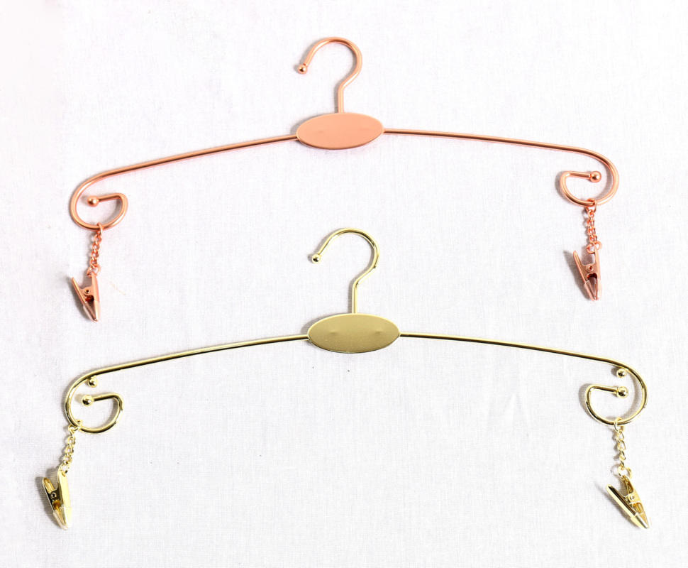 Customized colors stainless steel metal cloth hanger gold or copper