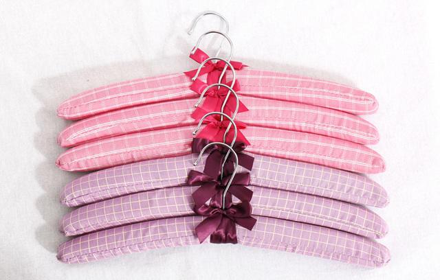 Satin Covered Padded Coat Hangers for Women Wedding Dress