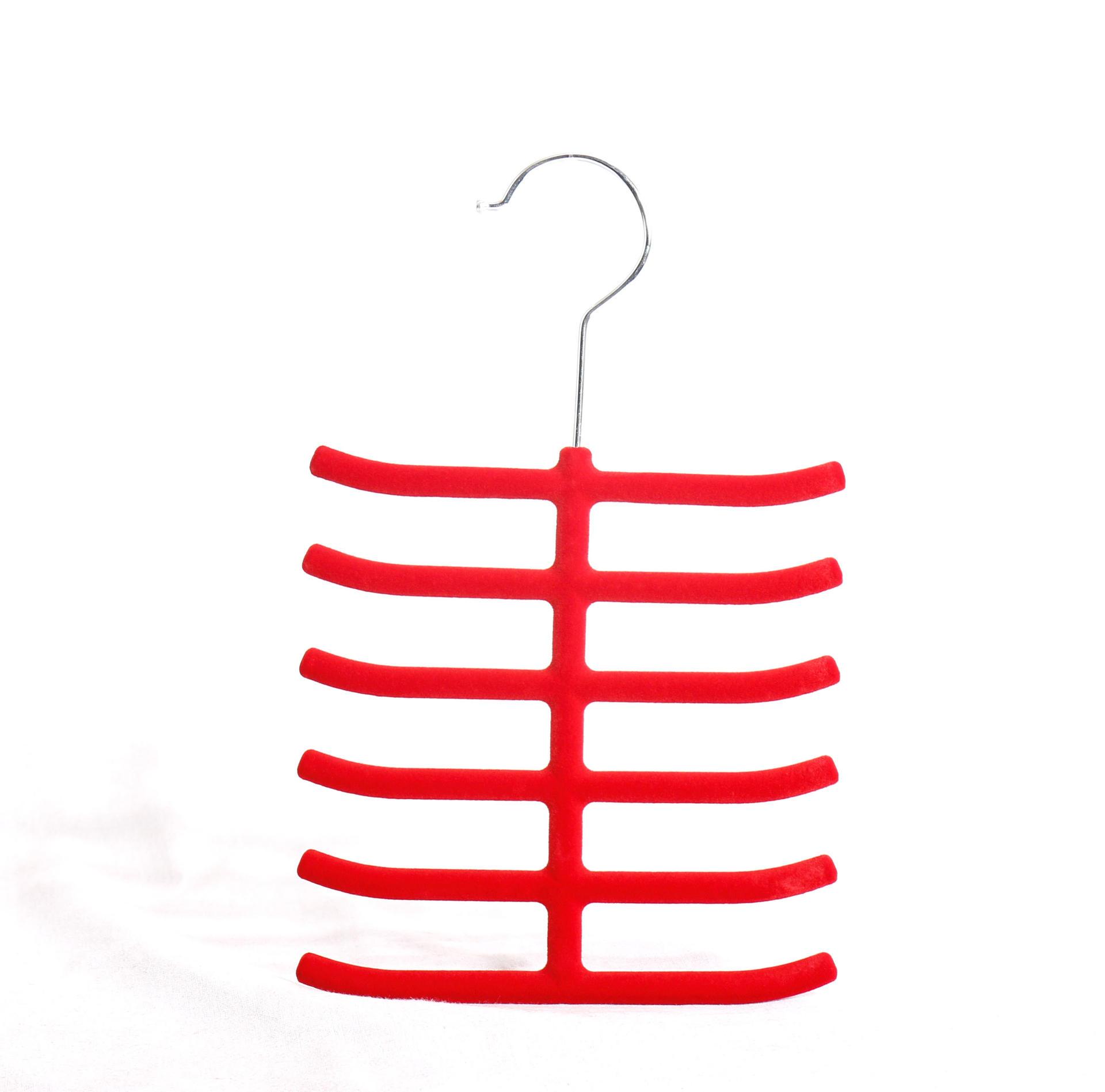 Plastic velvet scarf hanger for display tie/scarves
