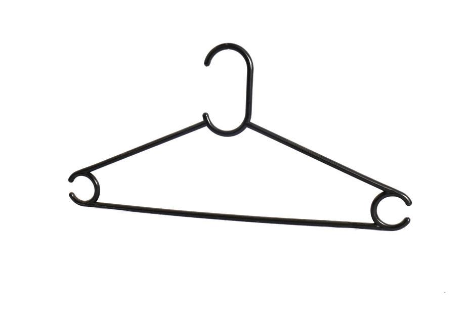 Best selling black plastic hanger,plastic cloth hanger for wet clothes