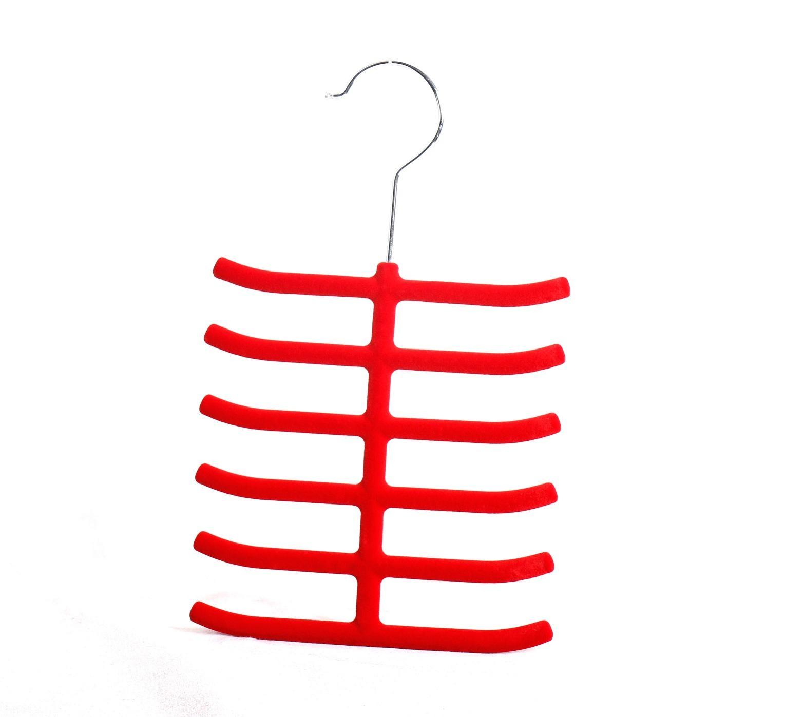 Red velvet flocking soft hanger for tie/belt