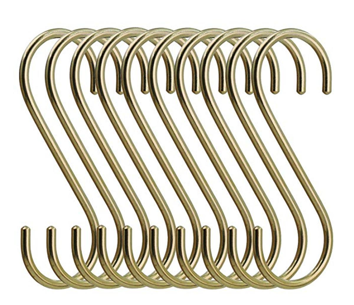 Metal rose copper S hook for household